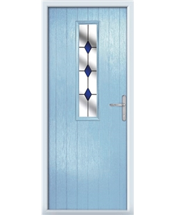 The Sheffield Composite Door in Blue (Duck Egg) with Blue Diamonds