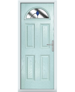 The Derby Composite Door in Blue (Duck Egg) with Blue Diamonds