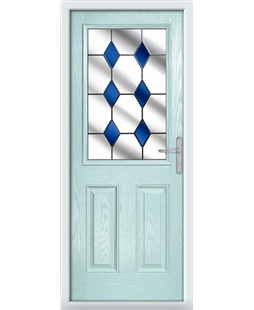 The Farnborough Composite Door in Blue (Duck Egg) with Blue Diamonds