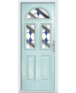 The Glasgow Composite Door in Blue (Duck Egg) with Blue Diamonds