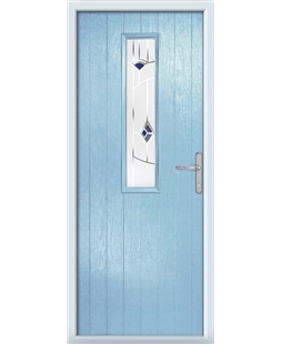 The Sheffield Composite Door in Blue (Duck Egg) with Blue Murano