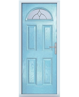 The Derby Composite Door in Blue (Duck Egg) with Classic Glazing