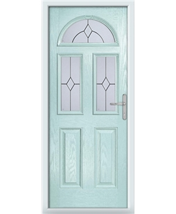 The Glasgow Composite Door in Blue (Duck Egg) with Classic Glazing