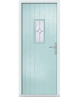 The Taunton Composite Door in Blue (Duck Egg) with Classic Glazing