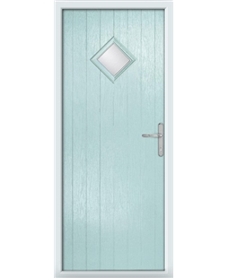 The Reading Composite Door in Blue (Duck Egg) with Clear Glazing