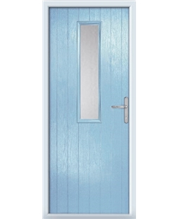 The Sheffield Composite Door in Blue (Duck Egg) with Glazing