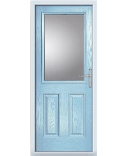 The Farnborough Composite Door in Blue (Duck Egg) with Glazing