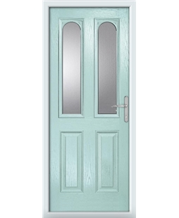 The Aberdeen Composite Door in Blue (Duck Egg) with Clear Glazing