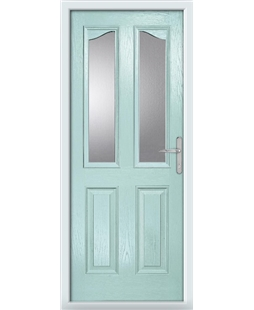The Birmingham Composite Door in Blue (Duck Egg) with Clear Glazing
