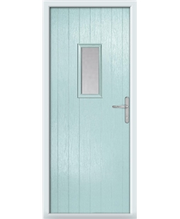 The Taunton Composite Door in Blue (Duck Egg) with Clear Glazing