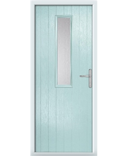 The Sheffield Composite Door in Blue (Duck Egg) with Clear Glazing