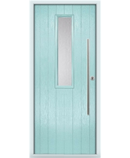 The York Composite Door in Blue (Duck Egg) with Clear Glazing