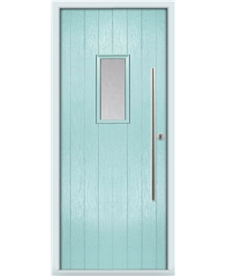The Zetland Composite Door in Blue (Duck Egg) with Clear Glazing
