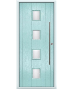 The Leicester Composite Door in Blue (Duck Egg) with Clear Glazing