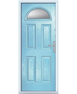 The Derby Composite Door in Blue (Duck Egg) with Glazing