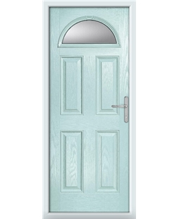 The Derby Composite Door in Blue (Duck Egg) with Clear Glazing