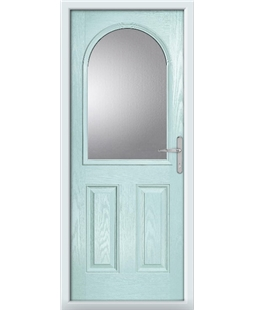 The Edinburgh Composite Door in Blue (Duck Egg) with Clear Glazing