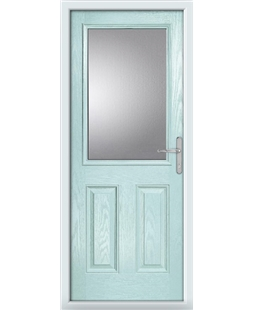The Farnborough Composite Door in Blue (Duck Egg) with Clear Glazing