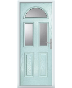 The Glasgow Composite Door in Blue (Duck Egg) with Clear Glazing