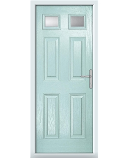 The Ipswich Composite Door in Blue (Duck Egg) with Clear Glazing