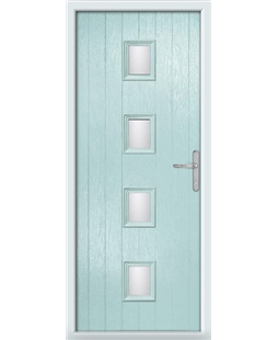The Uttoxeter Composite Door in Blue (Duck Egg) with Clear Glazing