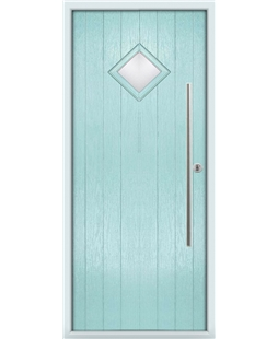 The Wolverhampton Composite Door in Blue (Duck Egg) with Clear Glazing