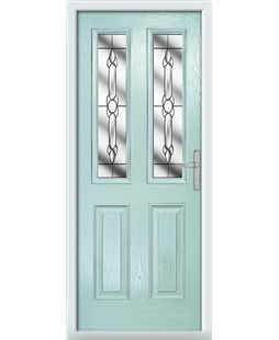 The Cardiff Composite Door in Blue (Duck Egg) with Crystal Bohemia
