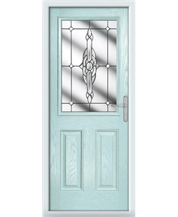 The Farnborough Composite Door in Blue (Duck Egg) with Clear Crystal Bohemia