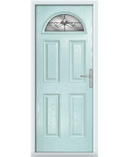 The Derby Composite Door in Blue (Duck Egg) with Crystal Bohemia Frost