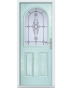 The Edinburgh Composite Door in Blue (Duck Egg) with Crystal Bohemia  Frost