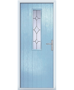 The Sheffield Composite Door in Blue (Duck Egg) with Crystal Diamond