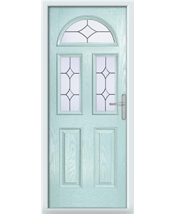 The Glasgow Composite Door in Blue (Duck Egg) with Crystal Diamond