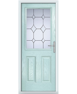 The Farnborough Composite Door in Blue (Duck Egg) with Crystal Diamond