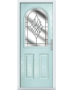 The Edinburgh Composite Door in Blue (duck egg) with Crystal Eternity