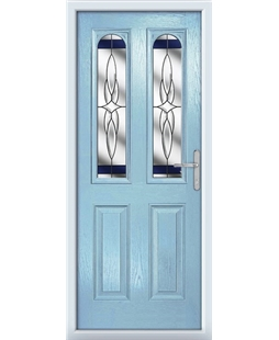 The Aberdeen Composite Door in Blue (Duck Egg) with Blue Crystal Harmony