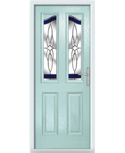 The Birmingham Composite Door in Blue (Duck Egg) with Blue Crystal Harmony