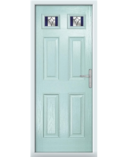 The Ipswich Composite Door in Blue (Duck Egg) with Blue Crystal Harmony