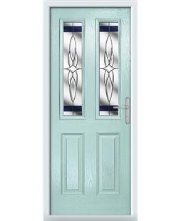 The Cardiff Composite Door in Blue (Duck Egg) with Blue Crystal Harmony
