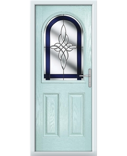The Edinburgh Composite Door in Blue (Duck Egg) with Blue Crystal Harmony