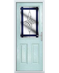 The Farnborough Composite Door in Blue (Duck Egg) with Blue Crystal Harmony