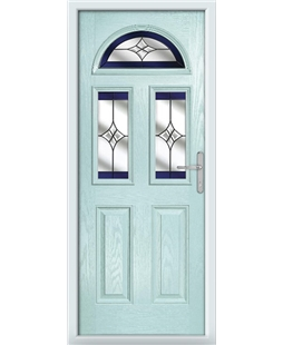 The Glasgow Composite Door in Blue (Duck Egg) with Blue Crystal Harmony