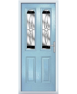 The Aberdeen Composite Door in Blue (Duck Egg) with Black Crystal Harmony