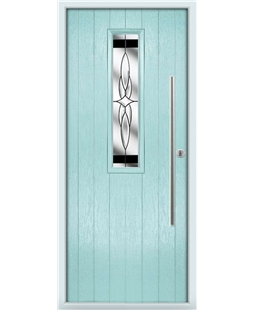 The York Composite Door in Blue (Duck Egg) with Black Crystal Harmony