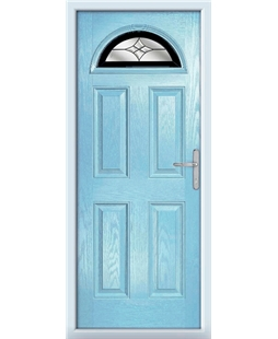 The Derby Composite Door in Blue (Duck Egg) with Black Crystal Harmony