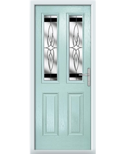 The Cardiff Composite Door in Blue (Duck Egg) with Black Crystal Harmony