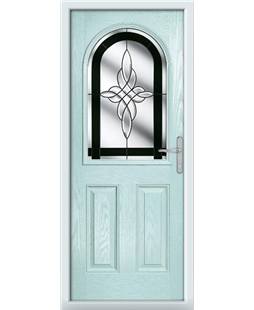 The Edinburgh Composite Door in Blue (Duck Egg) with Black Crystal Harmony