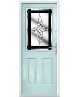 The Farnborough Composite Door in Blue (Duck Egg) with Black Crystal Harmony