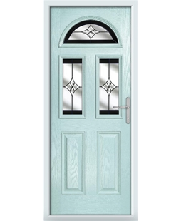 The Glasgow Composite Door in Blue (Duck Egg) with Black Crystal Harmony