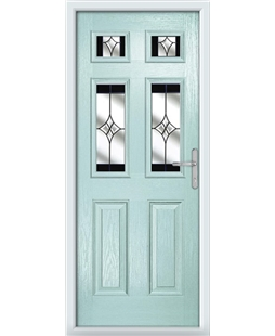 The Oxford Composite Door in Blue (Duck Egg) with Black Crystal Harmony