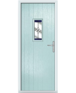 The Taunton Composite Door in Blue (Duck Egg) with Blue Crystal Harmony